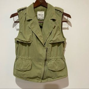 Madewell Safari Utility Vest Army Green Extra Small Women